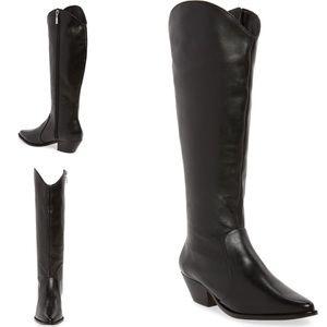 Schutz Leather Tall Cowboy Boot